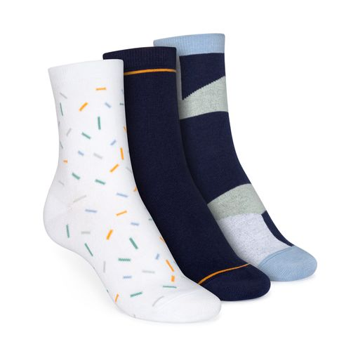 ThokkThokk 3er Pack Socks with organic cotton // Sprinkles/Easy Stripe/Geometric // Organic and Fairtrade certified // medium-high