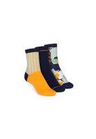 3 Pack Mid-Top Socken Vertical/Easy Stripe/Blossom