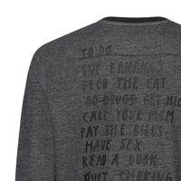 Bild 4 - Peter Phobia To Do Sweatshirt Man black/stretch limo Bio & Fair