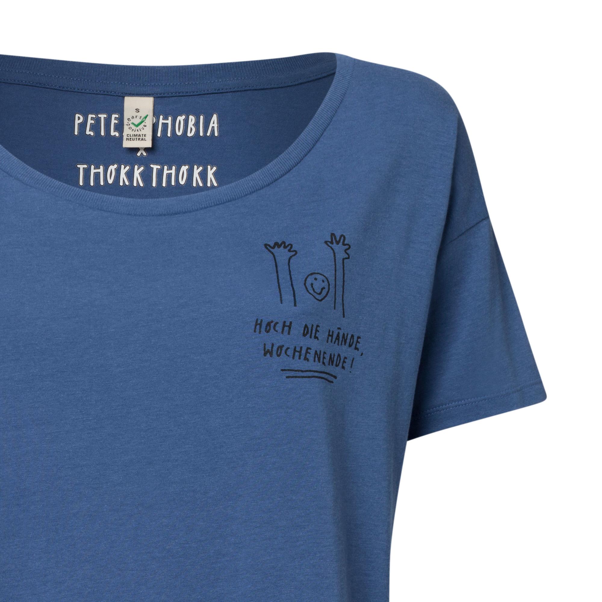 12e06458b70 ... Organic & Fair Bild 2 - Peter Phobia Hoch Die Hände Oversized Tencel  T-Shirt Woman black/