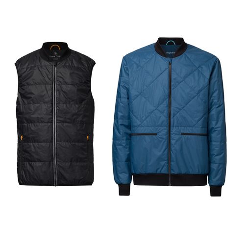 ThokkThokk 2er Pack TT2005 Light Kapok Vest Man Black & TT2004 Light Kapok Blouson Man Blue PETA-Approved Vegan