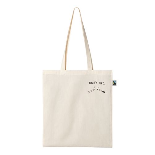 Peter Phobia That´s Life Tote Bag black/natural white made of Organic Cotton // Organic and Fair