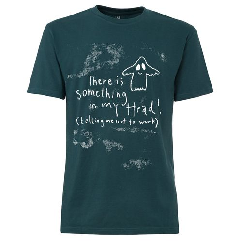 FellHerz Men T-Shirt Something In My Head Teal Organic Fair