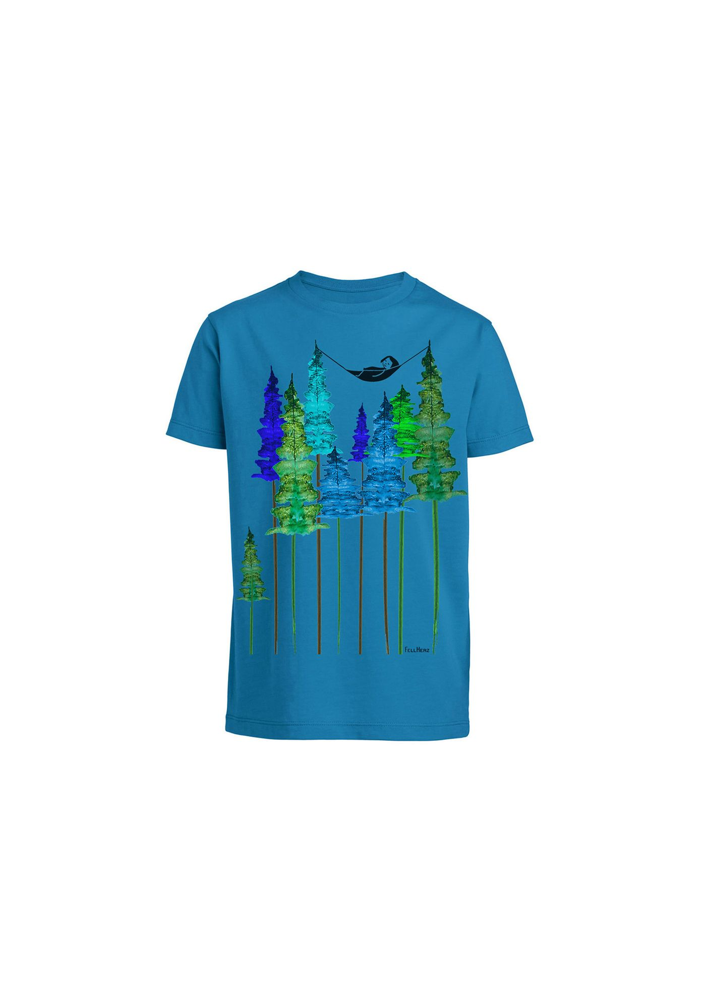 Kids T-Shirt Wood Girl Azur