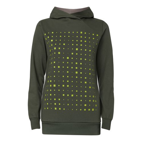 ThokkThokk Drift TT1026 Hoodie Woman yellow/olive-green made of organic cotton // Organic and Fairtrade certified
