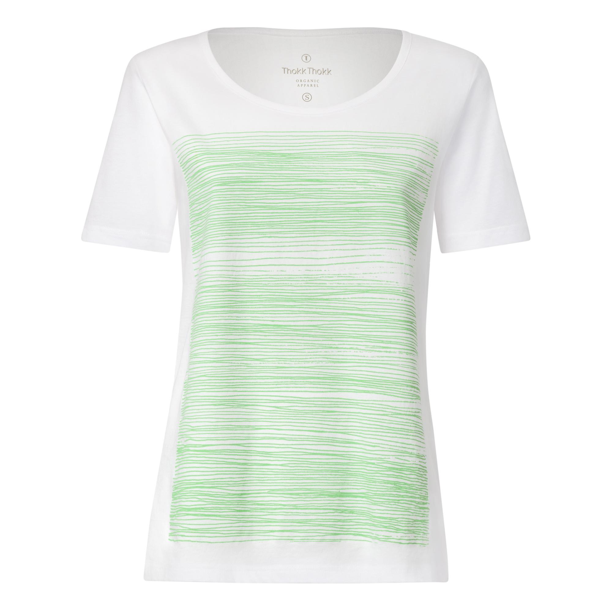 Strokes TT64 T-Shirt Woman palegreen/white GOTS & Fairtrade