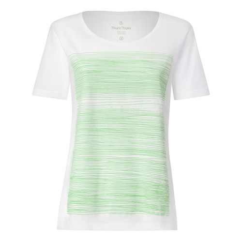 ThokkThokk Strokes TT64 T-Shirt Woman light green/white made of organic cotton // Organic and Fairtrade certified