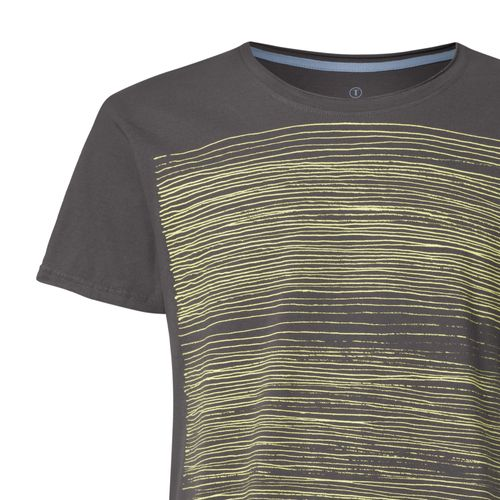 ThokkThokk Strokes TT65 T-Shirt Man yellow green/dark grey made of organic cotton // Organic and Fairtrade certified