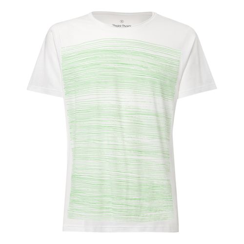 ThokkThokk Strokes TT65 T-Shirt Man light green/white made of organic cotton // Organic and Fairtrade certified