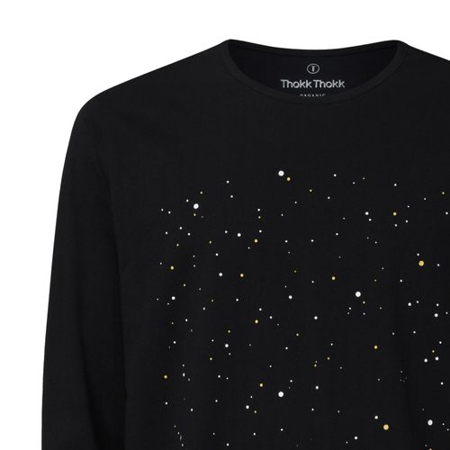 ThokkThokk Men Longsleeve Nightsky Black Organic Fair