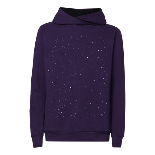 ThokkThokk Nightsky TT1025 Hoodie Man purple made of organic cotton // Organic and Fairtrade certified