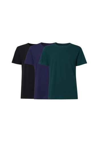 ThokkThokk Men T-Shirt Black Blue Teal 3 Pack Organic Fair