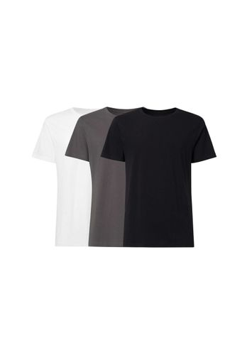 ThokkThokk Men T-Shirt White Grey Black 3 Pack Organic Fair