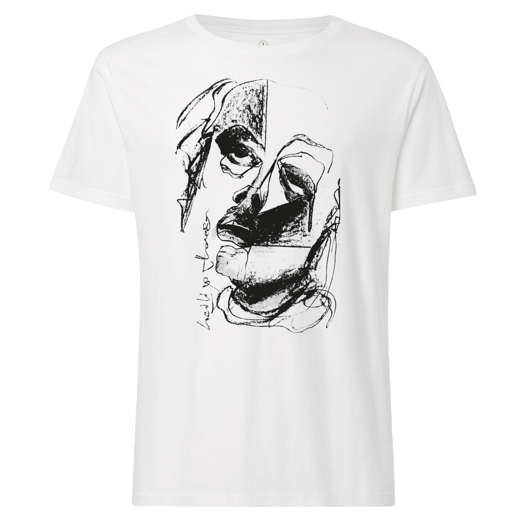 100for10 Luis Rutz T-Shirt black/white GOTS & Fairtrade