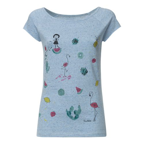 FellHerz Damen T-Shirt Lovely Things Hellblau Bio Fair