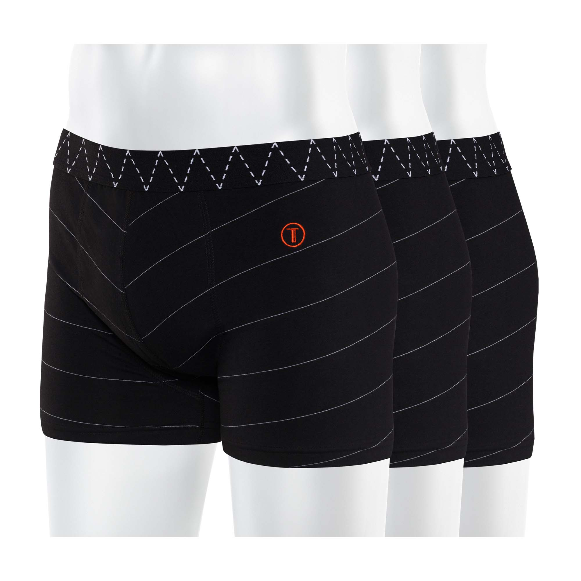 3er Pack TT15 Boxershorts Black/Microstripes GOTS & Fairtrade