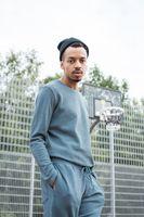 Bild 2 - TT30 Knit Longsleeve Man Iceblue/Dots GOTS & Fairtrade