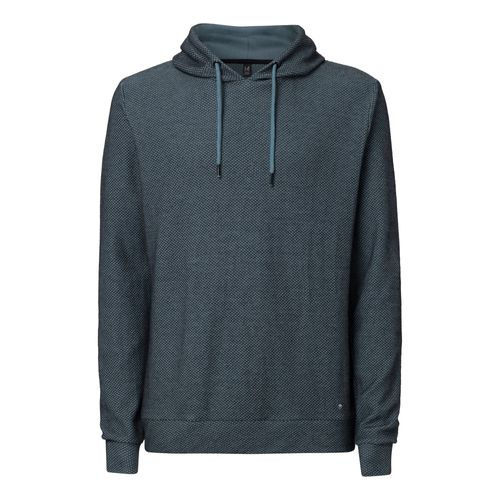 ThokkThokk TT1024 Knit Hoodie Unisex Light Blue/Check made of organic cotton // Organic and Fairtrade certified