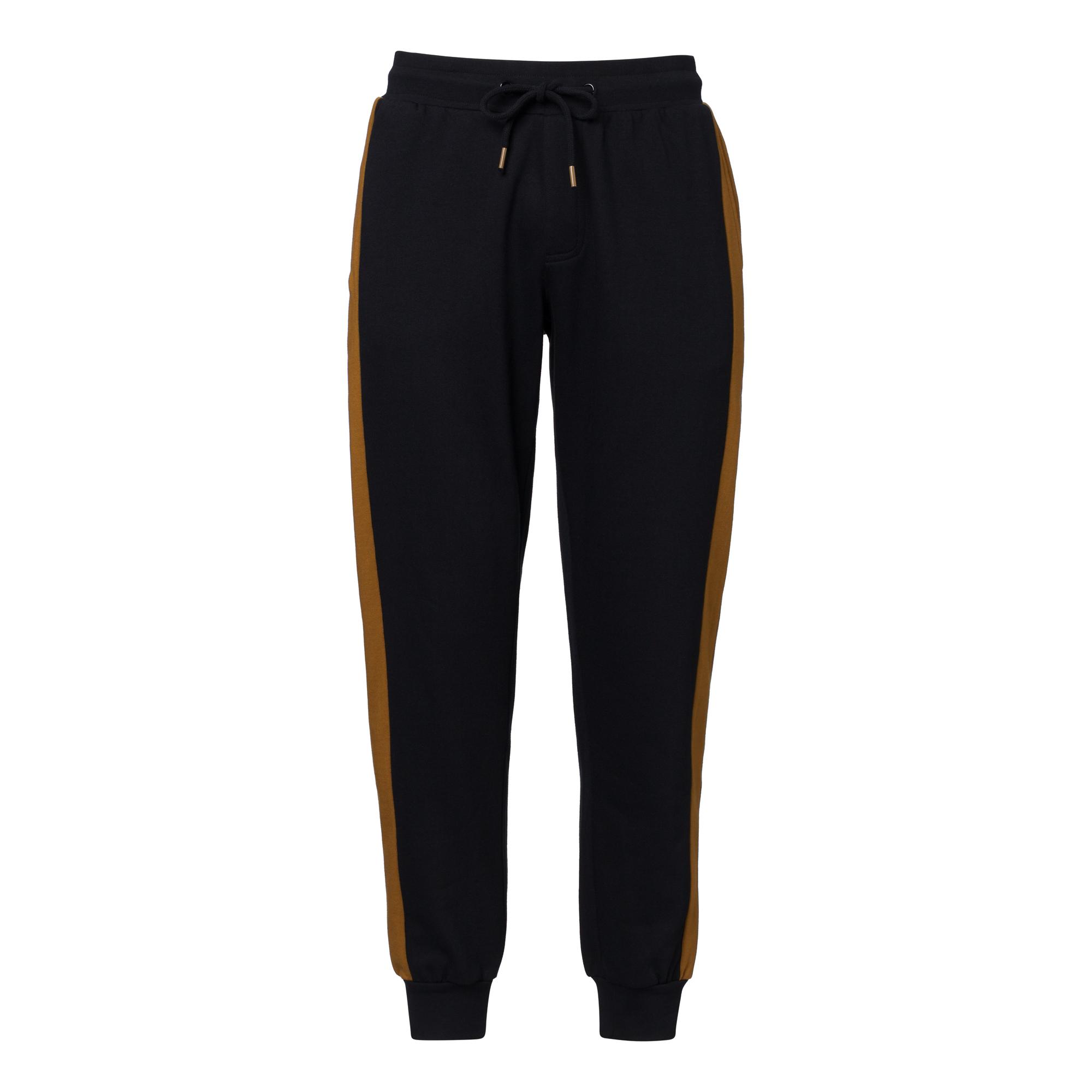 TT1010 Joggingpants Man Black/Side Stripe GOTS & Fairtrade