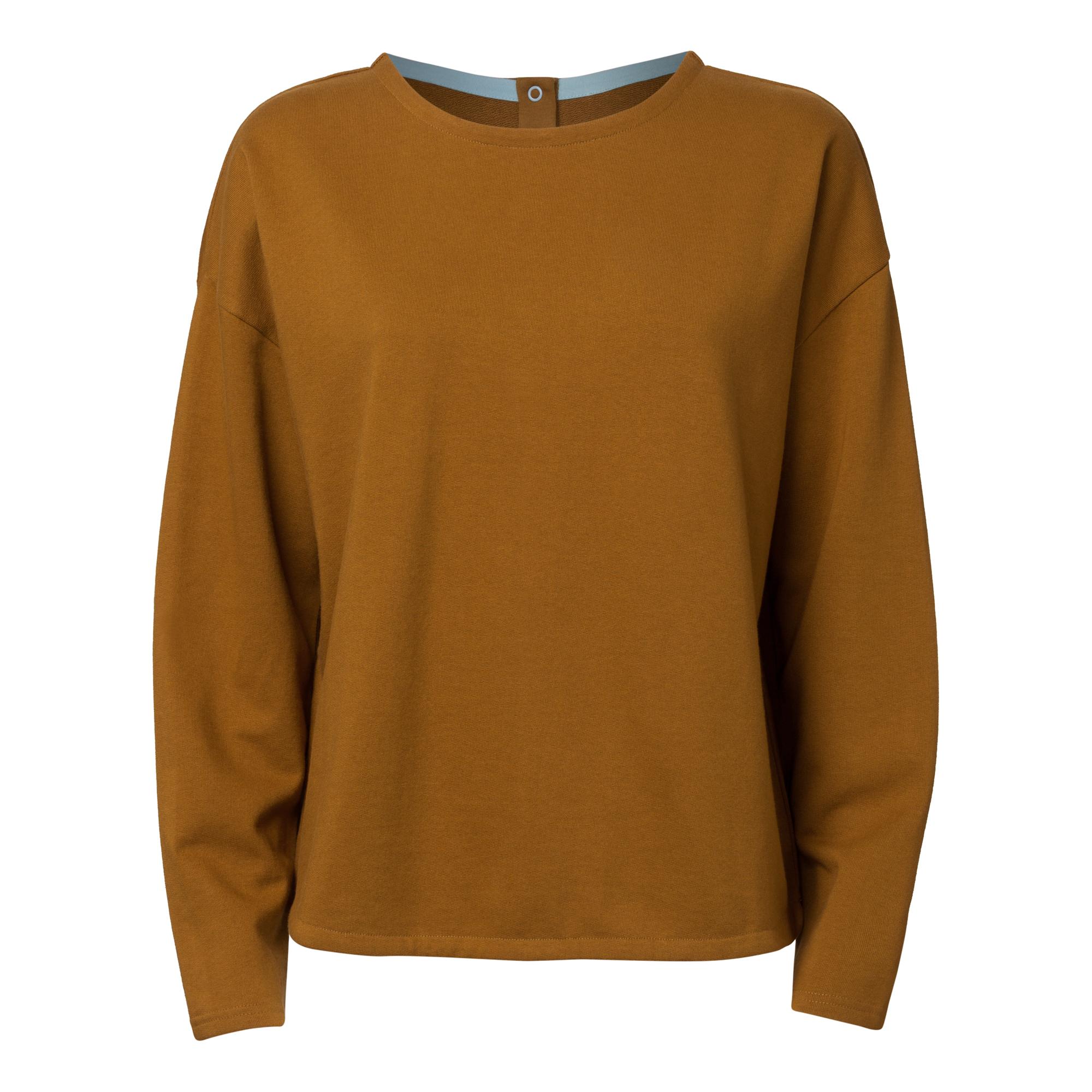 TT1035 Button Sweater Woman Brass GOTS & Fairtrade