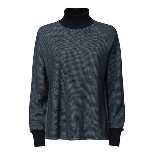ThokkThokk TT1036 Knit Turtleneck Sweater Woman Light Blue/Check made of organic cotton // Organic and Fairtrade certified