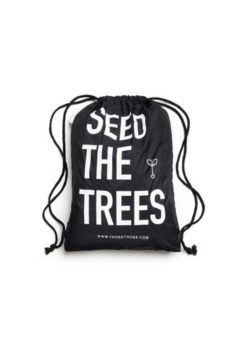 ThokkThokk Gym Bag Seed The Trees Black Recycled Fair