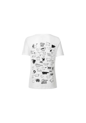 ThokkThokk Damen T-Shirt 90Cats Weiß Bio Fair