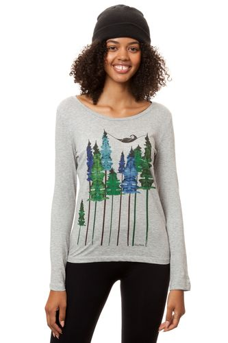 FellHerz Women Longsleeve Wood Girl Grey Organic Fair