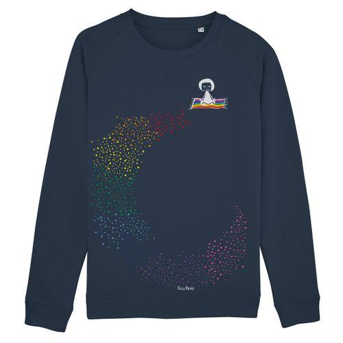 FellHerz Damen Sweatshirt Ommm Dunkelblau Bio Fair