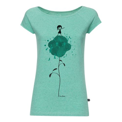 FellHerz Damen T-Shirt Dab-Dance Hellgrün Bio Fair