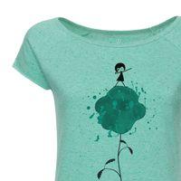 Bild 2 - FellHerz Dab-Dance Cap Sleeve malachite/confetti Bio & Fair