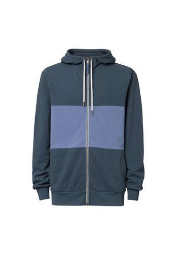 ThokkThokk Men Zip Hoodie Dark Blue Organic Fair