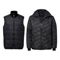 2er Pack TT2008 Light Kapok Vest Man Black 80gsm // Felttip TT2006 Kapok Anorak Man white/black 200gsm