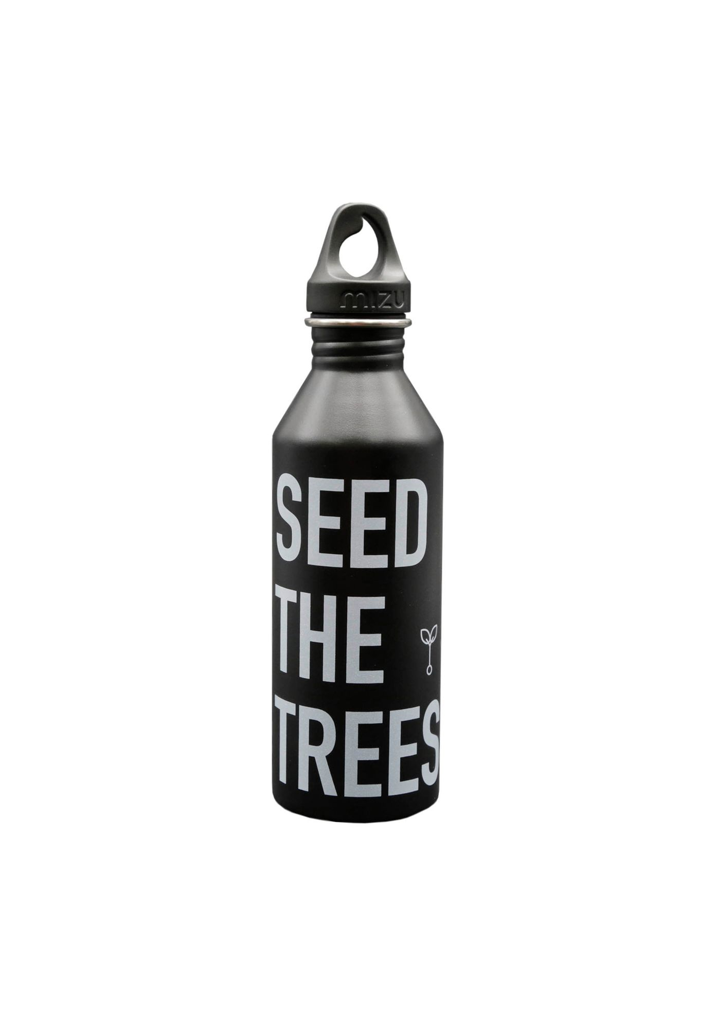 SEED THE TREES Stainless Steel Bottle Black