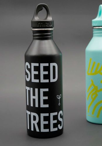 ThokkThokk Drinking Bottle SEED THE TREES Black Sustainable