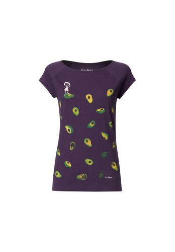 FellHerz Damen T-Shirt Avocado Violett Bio Fair