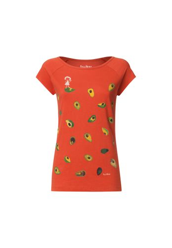 FellHerz Damen T-Shirt Avocado Rot Bio Fair