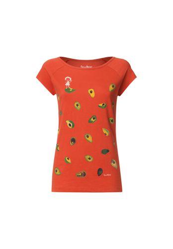 FellHerz Women T-Shirt Avocado Red Organic Fair