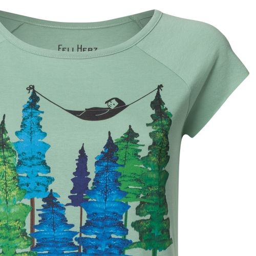 FellHerz Damen T-Shirt Wood Grün Bio Fair