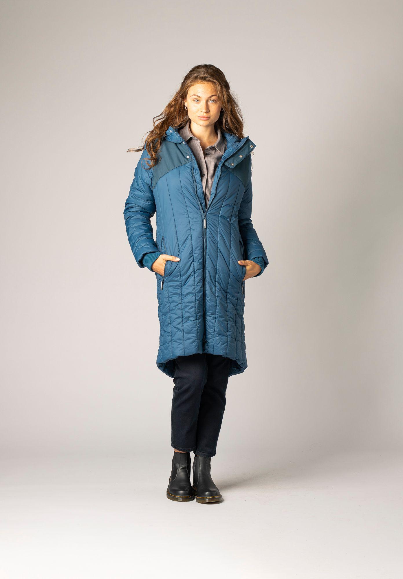 TT2003 Kapok Coat Ink Blue/Stripes