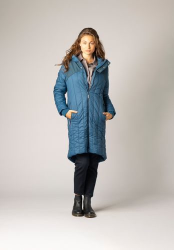 ThokkThokk Women Coat Kapok Teal Vegan Fair