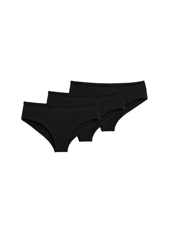 ThokkThokk Women Panty Black Logo 3 Pack Organic Fair