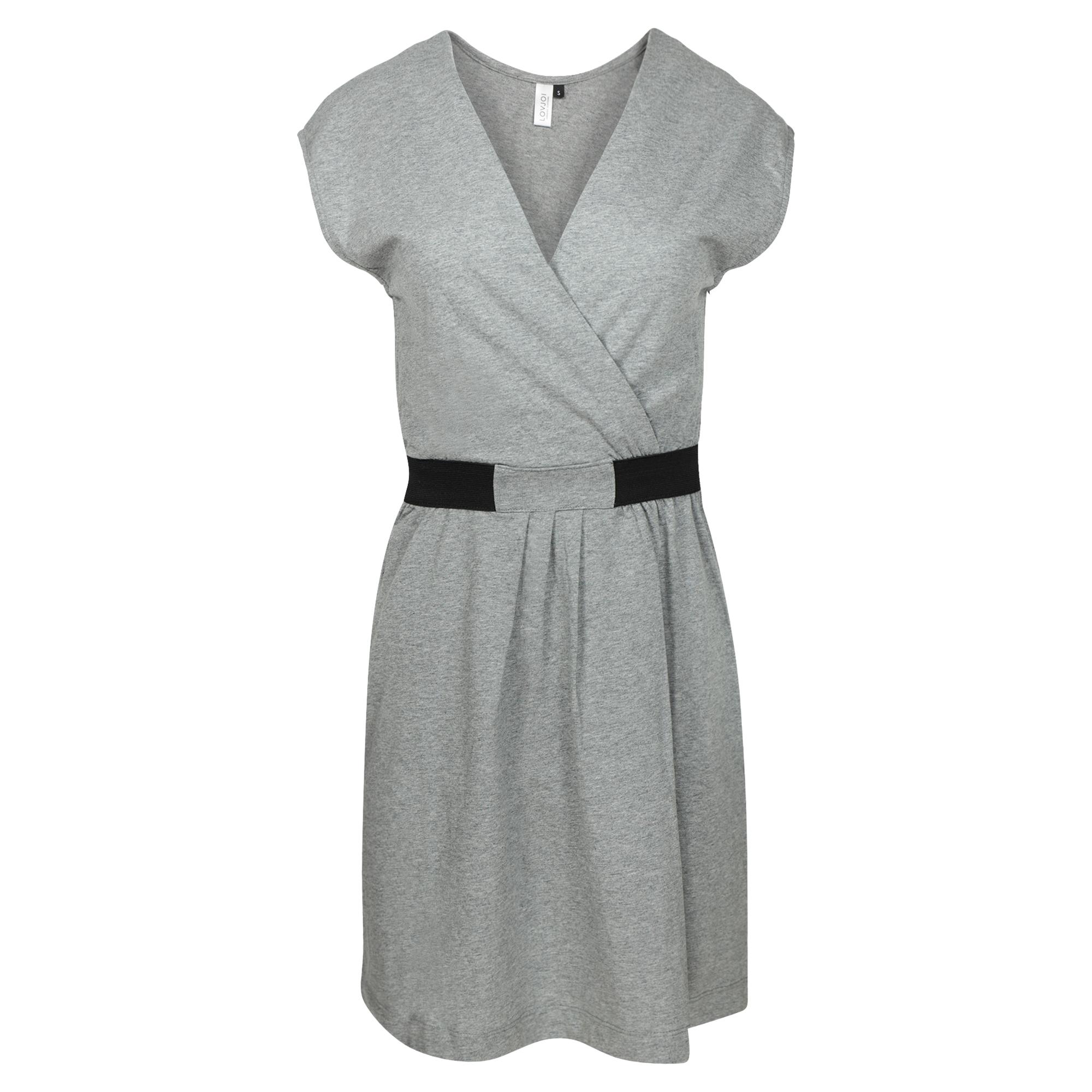 LOVJOI MOITA Dress dark grey melange Bio & Fair