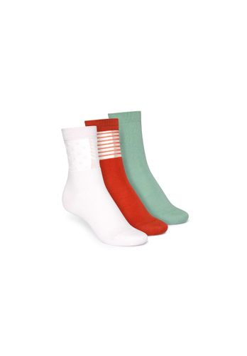 ThokkThokk Socks Green Red Light Pink 3 Pack Organic Fair
