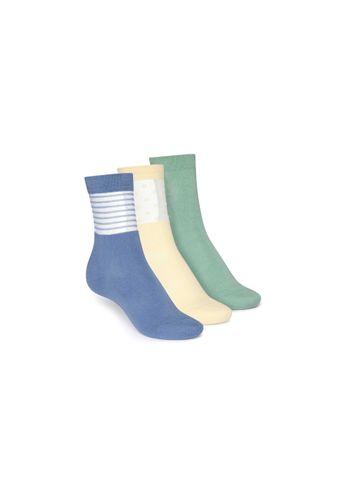 ThokkThokk Socken Mittelhoch Grün Hellgelb Blau 3er Pack Bio Fair