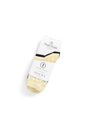 ThokkThokk Socks Black Light Yellow 3 Pack Organic Fair