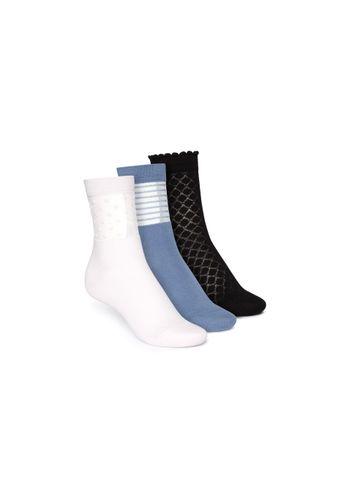 ThokkThokk Socken Mittelhoch Schwarz Blau Hellrosa 3er Pack Bio Fair