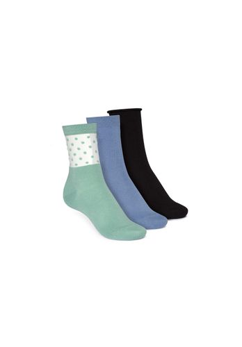ThokkThokk Socks Black Blue Green 3 Pack Organic Fair