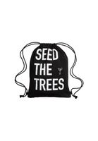 SEED THE TREES Cotton Gym Bag Black