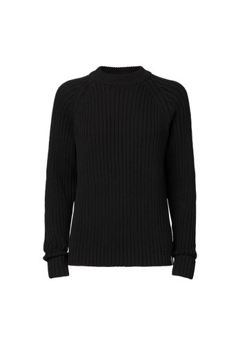 ThokkThokk Women Knit Pullover Black Organic Fair